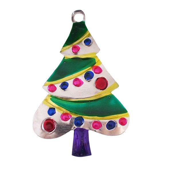 メキシコ ブリキオーナメント(クリスマスツリー A)