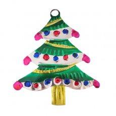 メキシコ ブリキオーナメント(クリスマスツリー B)