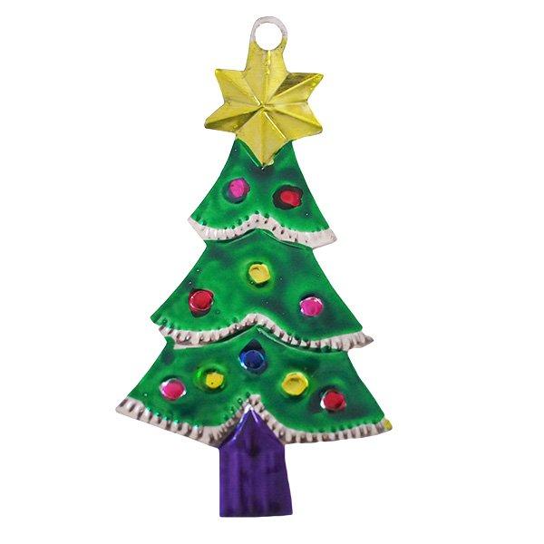 メキシコ ブリキオーナメント(クリスマスツリー C)【画像2】
