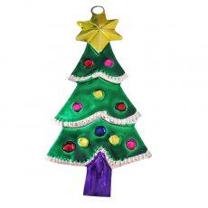 メキシコ ブリキオーナメント(クリスマスツリー C)