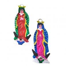 メキシコ ブリキオーナメント(マリア グアダルーペ  2色)