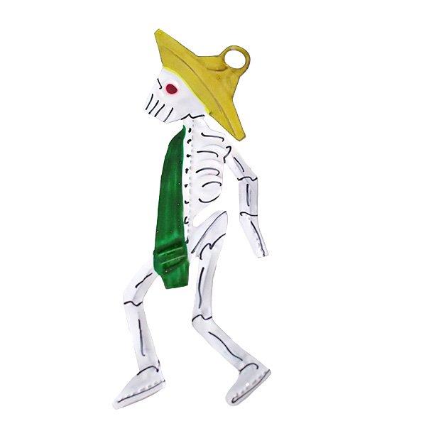 メキシコ ブリキオーナメント(ガイコツ スカル B)