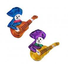 メキシコ ブリキ  メキシコ ブリキ マグネット(スカル ギター 2色)