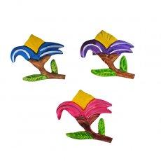 メキシコ ブリキ マグネット(花  3色)