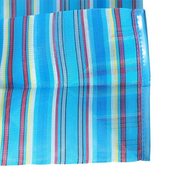 【メキシコ直輸入】メキシコ メルカド メッシュ バッグ (マチ付き ブルー ストライプ A)【画像4】