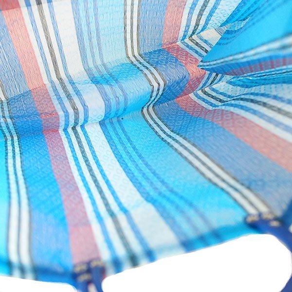 【メキシコ直輸入】メキシコ メルカド メッシュ バッグ (マチ付き ブルー ストライプ B)【画像3】