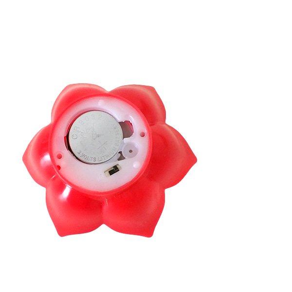 インド  睡蓮 キャンドルライト(ロータス LED レッド)【画像6】
