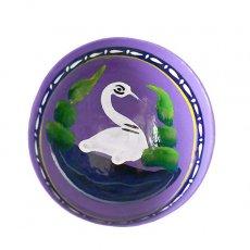 トリ (鳥) 雑貨 メキシコ  ヒカラ 器  オアハカ メスカル (白鳥 パープル)