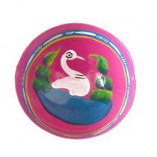 メキシコ  ヒカラ 器  オアハカ メスカル (白鳥 ピンク)