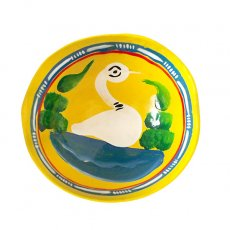 トリ (鳥) 雑貨 メキシコ  ヒカラ 器  オアハカ メスカル (白鳥 イエロー)
