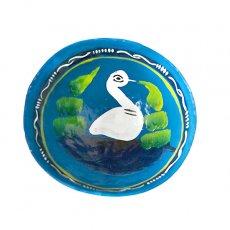 トリ (鳥) 雑貨 メキシコ  ヒカラ 器  オアハカ メスカル (白鳥 ブルー)