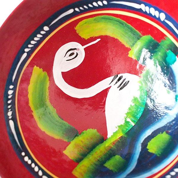 メキシコ  ヒカラ 器  オアハカ メスカル (白鳥 レッド)【画像3】