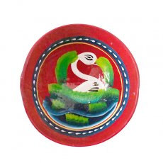 トリ (鳥) 雑貨 メキシコ  ヒカラ 器  オアハカ メスカル (白鳥 レッド)