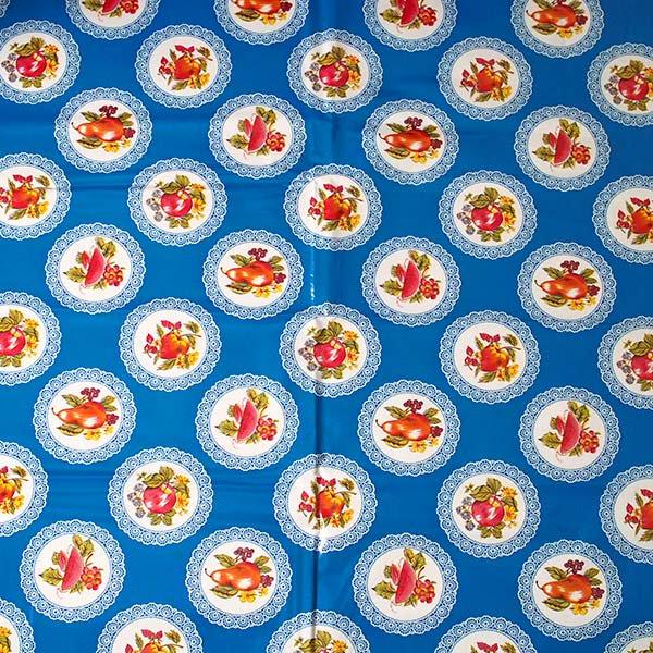 メキシコ オイルクロス くだもの ブルー  120×90 【画像4】