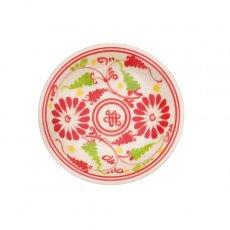 新入荷・再入荷 ベトナム バッチャン焼き 豆皿 菊の花 (直径約9cm)