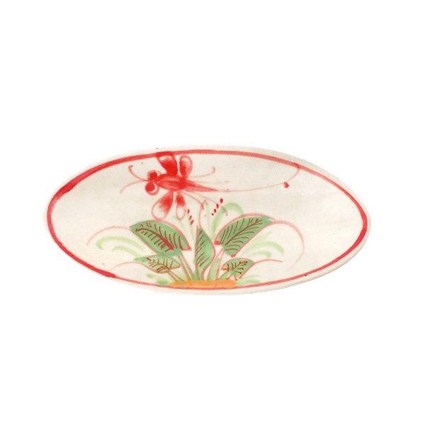 ベトナム バッチャン焼き 小舟型 皿 トンボ 2色(縦約6cm×横約14cm)【画像5】