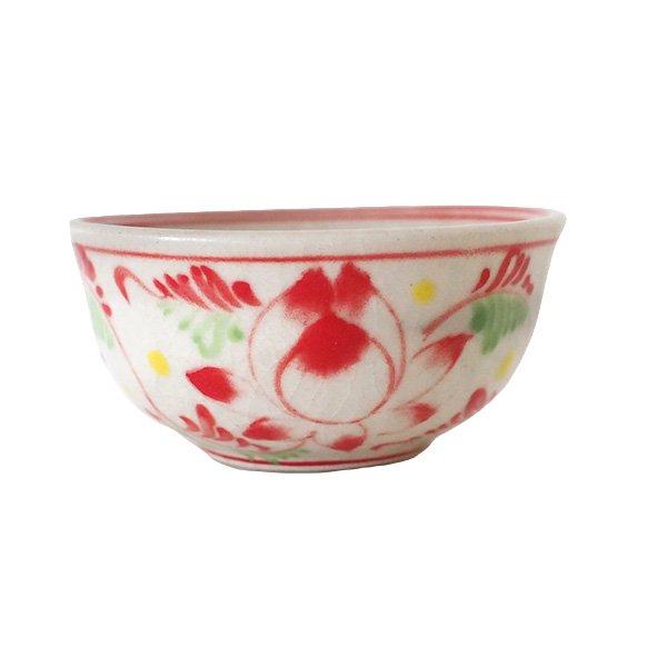 ベトナム バッチャン焼き ミニ小鉢 ロータス 蓮の花(直径約 8.5cm)