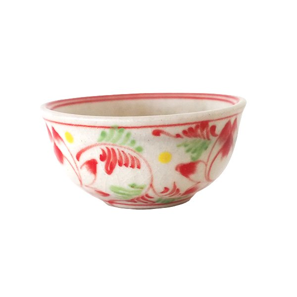 ベトナム バッチャン焼き ミニ小鉢 ロータス 蓮の花(直径約 8.5cm)【画像2】