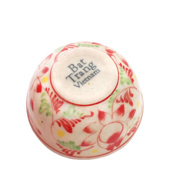 ベトナム バッチャン焼き ミニ小鉢 ロータス 蓮の花(直径約 8.5cm)【画像3】