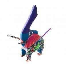 ゾウ(象) 雑貨 メキシコ ウッドカービング アレブリヘス (ゾウ ブルー)