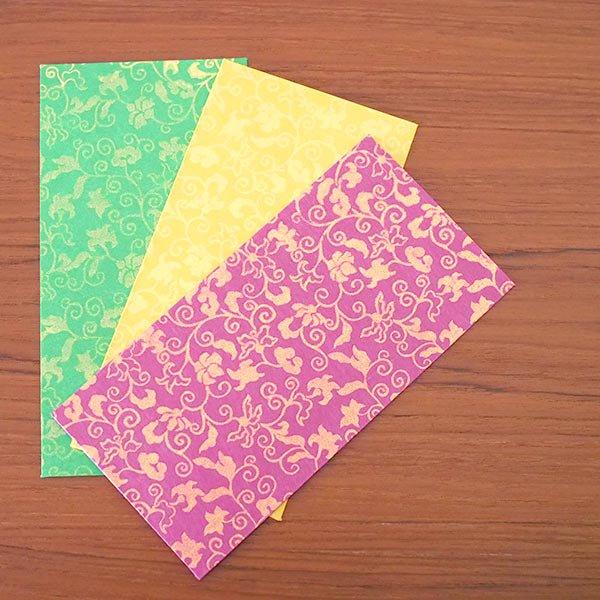 カラフルな封筒(3色)【画像5】