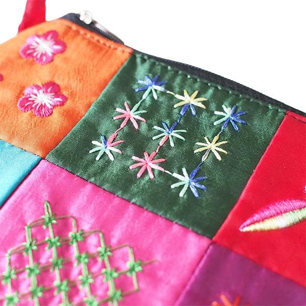 ベトナム パッチワーク刺繍 ポーチ(マチなし)【画像2】