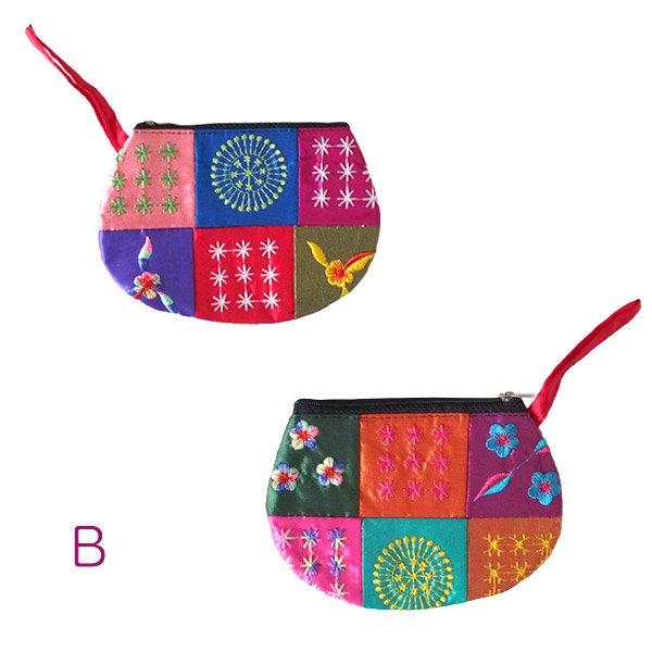 ベトナム パッチワーク刺繍 ポーチ(マチなし)【画像4】