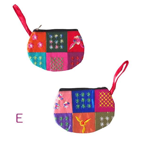 ベトナム パッチワーク刺繍 ポーチ(マチなし)【画像7】