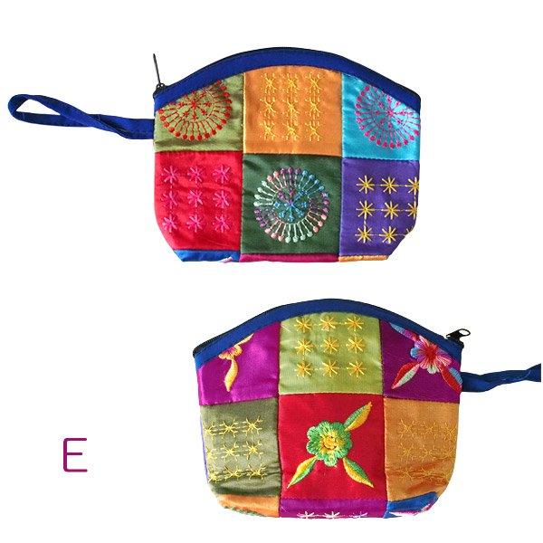 ベトナム パッチワーク刺繍 ポーチ(マチあり)【画像6】