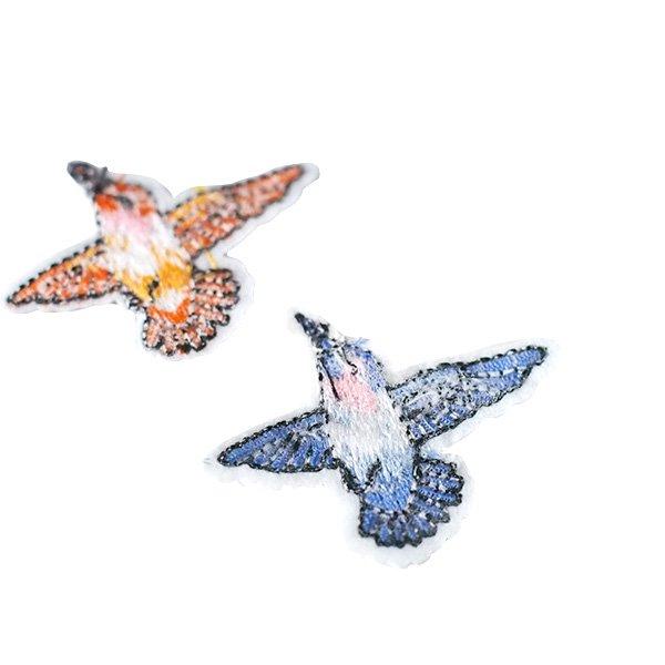 ベトナム  小鳥 刺繍 ワッペン(6色 アイロンOK )【画像2】
