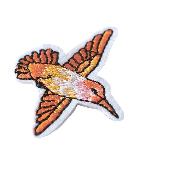 ベトナム  小鳥 刺繍 ワッペン(6色 アイロンOK )【画像3】