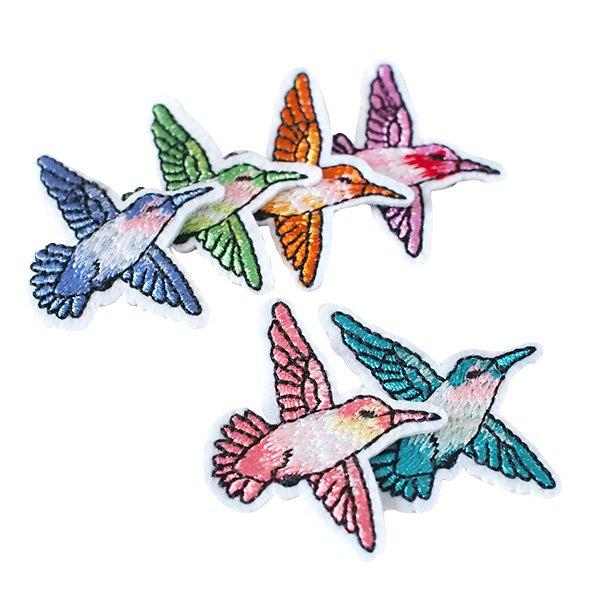 ベトナム  小鳥 刺繍 ワッペン(6色 アイロンOK )【画像6】