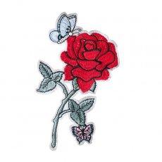 ベトナム 薔薇 刺繍 ワッペン(アイロンOK)