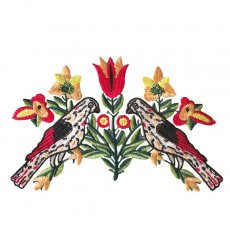 ベトナム 鳥 刺繍 ワッペン(縫い付けるタイプ)