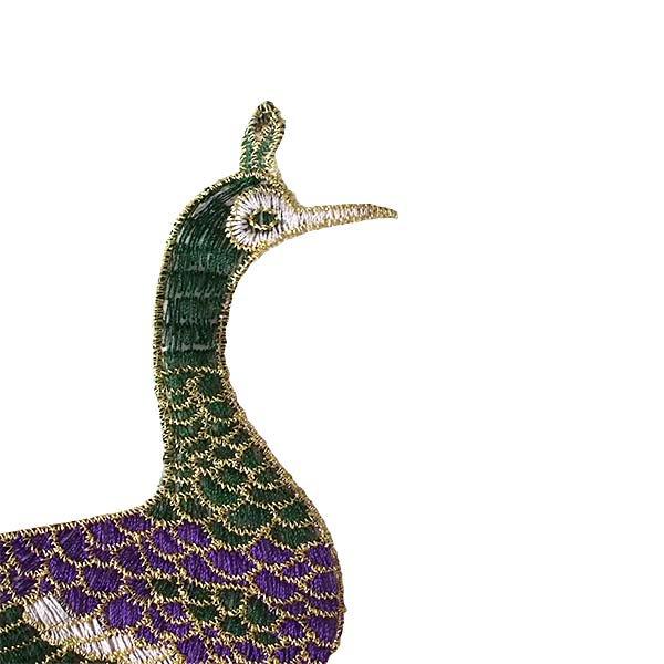 ベトナム 孔雀と蓮 刺繍 ワッペン(縫い付けるタイプ)【画像3】