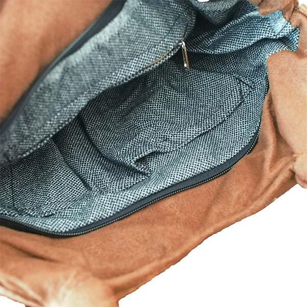 ベトナム スエード 花 刺繍ハンドバッグ (B)【画像7】