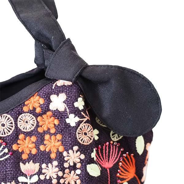 ベトナム 花 刺繍 ハンドバッグ (小花)【画像4】