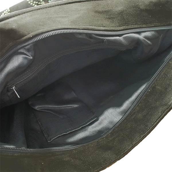 【送料無料】ベトナム スエード 花 ビーズ 刺繍 バッグ【画像7】
