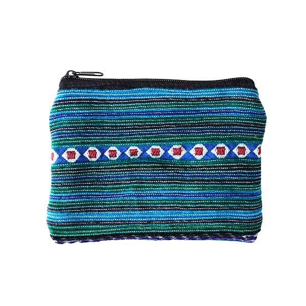 モン族 刺繍 ミニポーチ(グリーン)