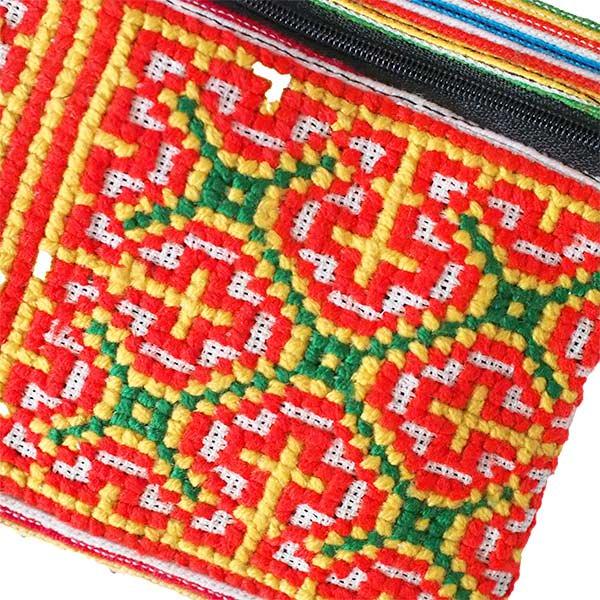 モン族 刺繍 ポシェット(N 15×13)少数民族 / ベトナム直輸入【画像2】
