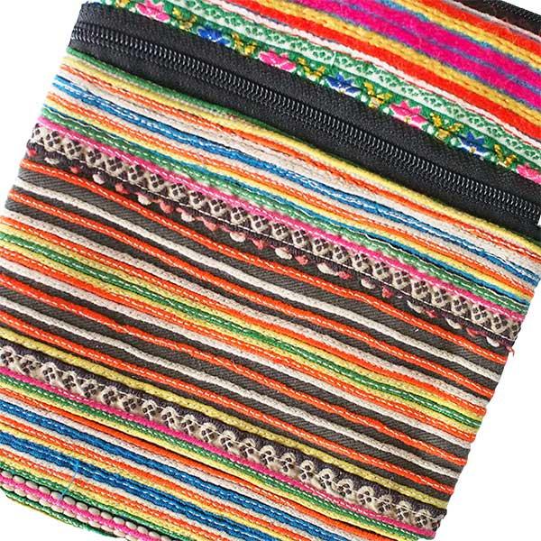 モン族 刺繍 ポシェット(O 15×13)少数民族 / ベトナム直輸入【画像2】