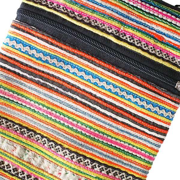 モン族 刺繍 ポシェット(P 15×13)少数民族 / ベトナム直輸入【画像2】