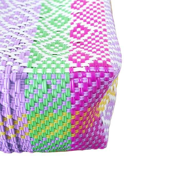 【メキシコ直輸入】メキシコ メルカド バッグ (カラフル)縦31 横33 マチ 12【画像4】
