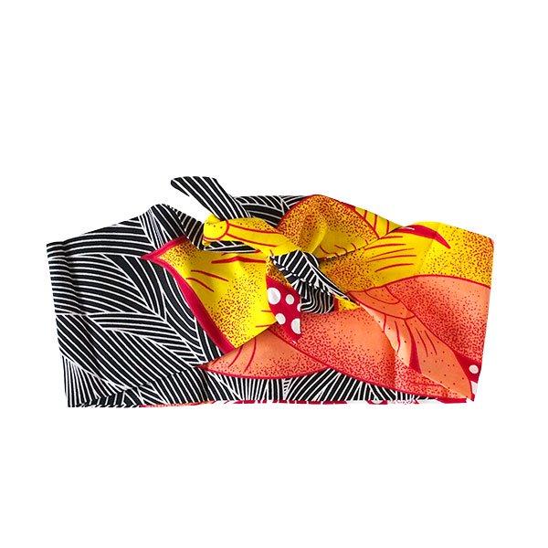【HARMONY FOR PEACE プロジェクト】マリ アフリカン パーニュ ヘアバンド(オレンジ)【画像6】