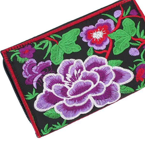ベトナム 牡丹 刺繍 財布(5色)【画像2】