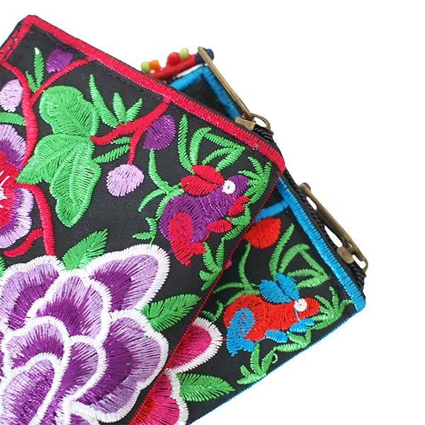 ベトナム 牡丹 刺繍 財布(5色)【画像3】