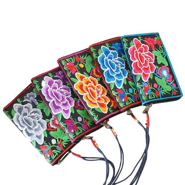 ベトナム 牡丹 刺繍 財布(5色)【画像9】