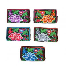 ベトナム 牡丹 刺繍 財布(5色)