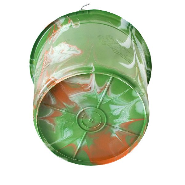 セネガル プラスチックバケツ(グリーン×ライトブラウン 15リットル)【画像3】