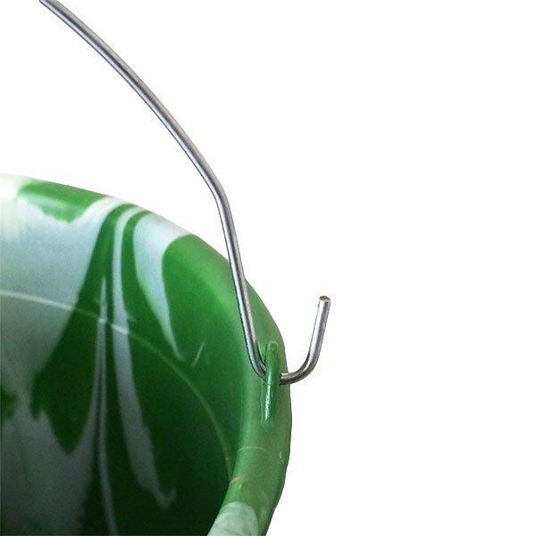 セネガル プラスチックバケツ(グリーン×ライトブラウン 15リットル)【画像4】